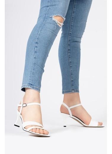 CZ London Sandalet Beyaz
